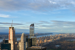 Central Park and Hudson River from The Top of The Rock (Guillermo S.L.) Tags: manhattan newyork unitedstates topoftherock rockefellercenter skyscraper sunset sky sonya6000 city bigapple centralpark buildings