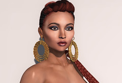 Margeaux meets Zoe (Alea Lamont) Tags: ndmd zoe ethnic skins black female skin afro american shape catwa margeaux bento head latin woman latina vanity hair