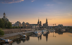 Dresden - catching the final sunlight (stefanfricke) Tags: dresden sunset reflection cityscape elbe sony ilce7rm2 sel1635z