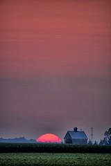 Sunset near a Barn (Ray Cunningham) Tags: ogden illinois 61859 sunset hdr barn orange
