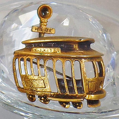 Vintage Brooch. Tortolani Trolley Car Brooch.  Book Piece. San Francisco Trolley Car Pin. (waalaa) Tags: etsy vintage antique shopping jewelry jewellery gifts wedding
