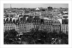 Les toits de Paris (Jean-Louis DUMAS) Tags: toit toiture ville town capital hdr nuage ciel summer city horizon noir noiretblanc noretblanc bw black bâtiment building
