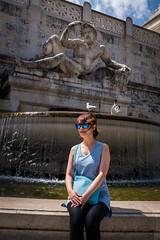 _DSF2252 (Dima7447) Tags: roma rome fountain fontana vittoriano altaredellapatria donna posa urban urbanphoto urbanphotography tourism tourist sunglasses bag bluebag blue gull gabbiano gabbianointesta gullonhead