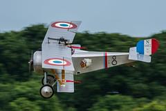 Nieuport 17 (Replica) - N1977 (G-BWMJ) (Ian. J. Winfield) Tags: shuttleworth oldwarden bedfordshire airshow plane aeroplane aircraft flight flying military pageant nieuport 17 replica n1977 waht ww1 greatwar armeedelair
