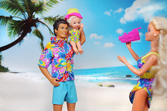 Baywatch Ken, Diamond Fairy Kelly, Dream Wedding Barbie doll from set (alenamorimo) Tags: barbie barbiedoll dolls family vacations beach kendoll kellydoll
