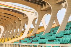 Accra, Ghana (gstads) Tags: accra akra ghana ghanaian stadium architecture line lines curve curves geometry geometric seat seats africa african kwamenkrumah blackstar ngc