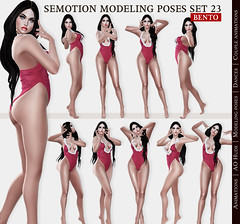 SEmotion Female Bento Modeling poses Set 23 - 10 static poses (Marie Sims) Tags: semotion sl secondlife stands sense ao animations animation avatar anim pose poses posing photographer photosl photo hot modeling mocap model fashion female hud