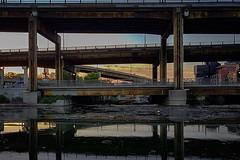 Photo (Kyra Savolainen) Tags: ifttt instagram toronto iphone summer 2018 gardinerexpressway elevatedhighway sunset urban infrastructure river