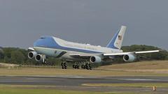 President Trump - Boeing VC-25 Air Force One (velton) Tags: 747 jumbo ayrshire turnberry golf scotland explore united states america