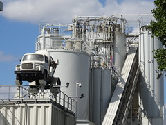 white concrete world (Jeanne Menjoulet) Tags: concrete industry truck ciment béton industrie camion issylesmoulineaux white