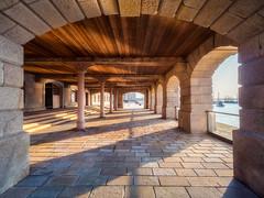 Royal William Yard (Timothy Gilbert) Tags: devon shadows royalwilliamyard wideangle plymouth ultrawide m43 microfourthirds panasonic laowacompactdreamer75mmf20 photowalk microfournerds gx8 perspective lumix