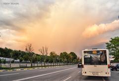 DSC_0905 (VictorSZi) Tags: romania bucharest bucuresti bus autobuz nikon nikond3100 nordului mercedes mercedescitaro mercedescitaroeuro3 summer vara rainbow curcubeu clouds