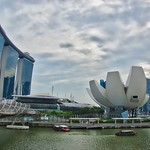 Marina Bay Sands Hotel, Helix Bridge and Arts & Science Museum in Singapore thumbnail