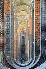Through the arches (Peter Denton) Tags: viaduct bridge vaulting ousevalley balcombe westsussex england arches architecture brick railway railwayheritagetrust englishheritage ©peterdenton canoneos100d brightonmainline railwayviaduct
