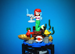 "LEGO Little Mermaid Music Box ""Part of Your World"" (_Pixeljunkie_) Tags: lego moc disney ariel part your world afol music box"
