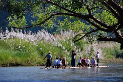 bamboo river rafting (meren34) Tags: chiangmai thailand river bamboo rafting nature water travel tour valley