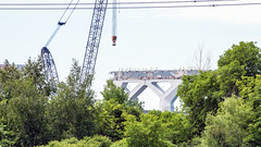 Dead End (caribb) Tags: montreal montréal quebec québec canada urban city 2018 construction constructionsite cranes workers trucks architecture design new pont pontchamplain bridge champlainbridge majorconstruction building