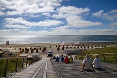 Egmond aan Zee (Julysha) Tags: egmondaanzee beach stairs thenetherlands noordholland strand nikon d850 acr 2018 summer june people sea northsea backlight sky