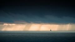 Tourelle de la Parquette (jf.cudennec) Tags: iroise sea ocean sky cloud dramatic minimalism bretagne breizh finistère canon tamron landscape seaside seashore seascape 150600 70d phare lighthouse light sunset sunray