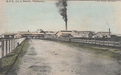 Q.M.E. Meatworks at Pinkenba, Brisbane, Qld - circa 1910 (Aussie~mobs) Tags: pinkenba brisbane queensland australia vintage qmemeatworks factury plant