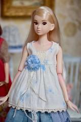 Portrait of Cora (Girl Least Likely To) Tags: momoko sekiguchi closeclippedsheep dolls toys asianfashiondolls japanesetoys miniatures dollhouse dollscene diorama dollroom livingroom dresses