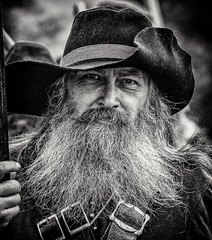 Old Soldier (Andy J Newman) Tags: monochrome war blackandwhite bristol civil civilwar d500 man nikon old portrait reenactment silverefex whiskers longashton england unitedkingdom gb