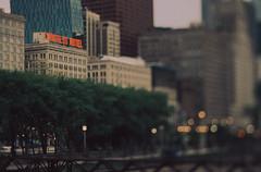 CONGRESS HOTEL (Jovan Jimenez) Tags: canon eos elan 7ne tilt shift hasselblad carl zeiss planar 80mm f28 kodak ektachrome 320 expired congress hotel bokeh eos7s 30v 33v slide film grain arax retrochrome analog analogue transparency architecture chicago city streetphotography