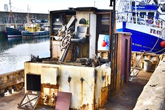 FR416 Silver Fern - Fishing Trawler Scrapped - MacDuff Shipyard Aberdeenshire Scotland -3/7/2018 (DanoAberdeen) Tags: fraserburghharbour fr416silverfern candid tug boat aberdeenshire amateur 2018 fraserburgh whitefish abandoned neglected scrap scrapped destroyed danoaberdeen weathered crusty rusty unloved divorce fishing fish scottishtrawlers scotland murder death fr416 silverfern harbour macduff banff shipyard seaport unhappy sorrow sad crying dismembered mutilated skipper captain deck 1982 80s eighties 1980s british uk built alone ship cod salmon haddock creel shellfish trawlers seafarers maritime peterhead aberdeen fisheries creels porn clouds wife macduffscotland macduffshipbuilders scottish shipspotting