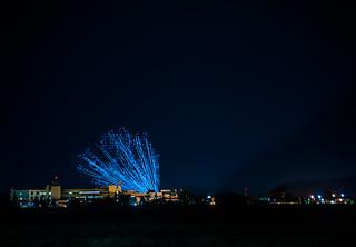 launching 500 illuminated drones
