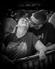 Ignore the crowd (Oliver Leveritt) Tags: monochrome blackandwhite couple man woman kiss smile concert rockthedistrict rock islandillinoisdaiquiri factorynikon d610afs nikkor 2470mm f28g edoliver leveritt photography