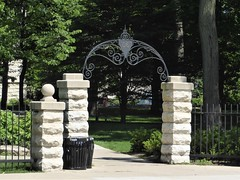 Evanston, IL, Northwestern University Campus, Sheridan Road Gate, Gift of the Class of 1906 (Mary Warren 10.8+ Million Views) Tags: evanstonil northwesternuniversity architecture limestone stone metal iron gate