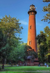 Currituck Beach Lighthouse and Museum in North Carolina's Outer Banks (PhotosToArtByMike) Tags: currituckbeachlighthouse corollanorthcarolina museum outerbanks obx lighthousetower sanddunes northcarolina nc lighthouseandmuseum outerbanksnorthcarolina atlanticocean curritucksound currituckcounty