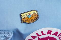 (Girl With Butterfly Wings) Tags: enamel pin lapel badge lifeofadventure macro closeup bag rucksack kanken fjallraven asildastore