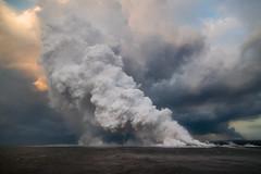 Hawaii Kilauea Volcano Lava Laze Boat Tour View 7 (tobyharriman) Tags: 5dsr kapoho leilaniestates aerial bay bigisland canon disaster farms fissure hawaii helicopter islands kilaueafissure8 landscape lava natgeo nationalgeographic nature outdoor pele photography rifts river tobyharriman travel volcano