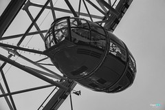 London eye (capellini.chiara) Tags: uk streetphotography bnphotography blackandwhite cocacolalondoneye london londra