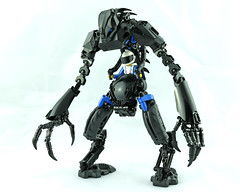 SK-RNSK V2.0 Power Suit (Prhymus) Tags: bionicle bioniclemoc lego lego:theme=bionicle legomoc lego:theme=technic legobionicle legophotography robot blue black alien herofactory hardsuit technicfig foitsop