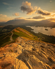 golden hour above derwent water. (akh1981) Tags: amateurphotography beautiful cumbria clouds calm countryside catbells colour derwentwater derwent fells nikon keswick landscape lakedistrict lake manfrotto mountains morning nisi nature nationalpark nisifilters nationalheritage nationaltrust outdoors valley rocks sunrise sky travel wideangle walking water uk unesco
