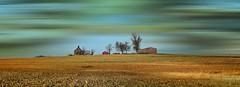 end of the day (David Sebben) Tags: abandoned farmstead knox illinois panoramic rural barns