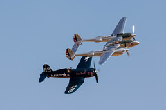 HV7A3703.jpg (adrian.reynolds37) Tags: old transportandmachinery airshows aircraft corsair events duxfordflyinglegends2018 p38lightning