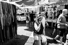 Market at Bardolino Lake (GPStreepher) Tags: blackandwhite streetphotography street bardolino leicaq leica
