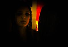 The Mirror (_Lionel_08) Tags: mirror girl dark spooky ghost red orange yellow creepy black canon rebel t5
