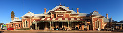 Mudgee Railway Station Panorama (Darren Schiller) Tags: mudgee newsouthwales architecture australia building bricks closed empty facade history heritage infrastructure old panorama rural railway station transport