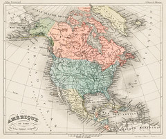 Amerique du Nord from Atlas Universel by Arthème Fayard, pseudonyme F. de la Brugere (1836-1895), published in 1878, vintage cartographic map of the United States of America, Canada and Mexico. Digitally enhanced from our own original plate. (Free Public Domain Illustrations by rawpixel) Tags: otherkeywords tags unitedstates aged america americanofnorth ameriquedunord antique art artheme arthemefayard atlantic atlas atlasuniversel brugere canada cartography cc0 central chart chromolithograph color colorful drawing earth education fdelabrugere fayard french historical history illustrated illustration lithograph map mexico north northamerica ocean old original pacific plate poster print publicdomain retro sea states study united vintage