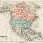 Amerique du Nord from Atlas Universel by Arthème Fayard, pseudonyme F. de la Brugere (1836-1895), published in 1878, vintage cartographic map of the United States of America, Canada and Mexico. Digitally enhanced from our own original plate. thumbnail
