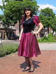 Metallic skirt (Paula Satijn) Tags: dress skirt girl lady elegant classy sun sunshine outside gown smile happy joy sweet red burgundy metallic shiny satin silky