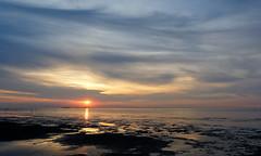 Sunset (XoMEoX) Tags: sunset sonnenuntergang meer sea cuxhaven watt wattenmeer mudflat sky himmel ronamtic romantisch nikon d5200 abend stimmung abendstimung kitsch kitschig beach strand ozean wasser nordsee northernsea atmosphere romantic