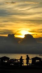 You and Me (Ramalakshmi Rajan) Tags: srilanka beach sunset dusk nikon nikkor18140mm nikond5000 sun sky silhouette