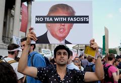 No Tea With Fascists ! (alisdare1) Tags: teawithfascists placard donaldtrump visit britain theresamay uspresident americanpresident demonstration march rally protest london potus trump humanrights justice unitedkingdom specialrelationship fujixpro2 fujifilm xpro2 16mmf14 fuji16mm fujix liberalfascism