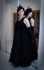 Gothic Princess (blackietv) Tags: velvet velour lace dress evening formal gown goth gothic black princess crossdresser tgirl transvestite crossdressing transgender