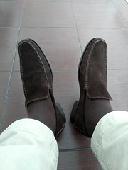 Brown suede loafers 2 (Adam11051983) Tags: footwear men mens shoe shoes brown loafer loafers feet foot suede